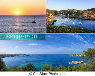 Set of summer mediterranean photos