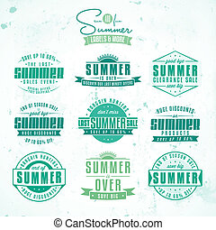 Set of summer sales related vintage labels - Collection of...