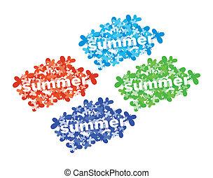 Set of summer vector tag.