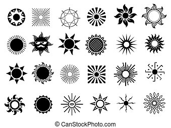 Set of sun icons - Set of different icons as a symbol of the...