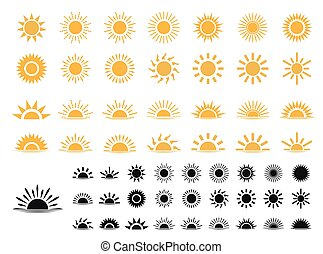 set of Sun icons . Trendy vector summer symbol for website design, web button, mobile app.