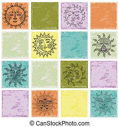 Set of Sun illustration