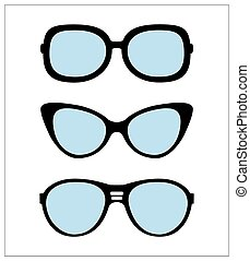 set of sunglasses vector illustrati