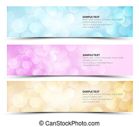 Set of sunny horizontal banners