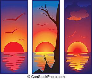 set of sunset