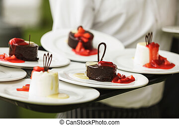 Set of sweets and desserts