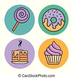set of sweets design