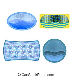Set of Swimming Pool Icons