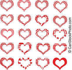 Set of symbol hearts valentine