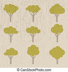 set of symbolic trees - illustration