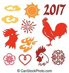 Set of symbols 2017 by Chinese calendar