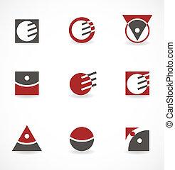 Set of symbols for logo