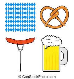 Set of symbols for the Oktoberfest festival