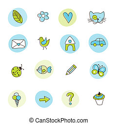 Set of symbols - Web icons