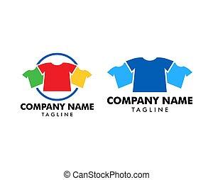 Set of T-shirt Fashion Logo Template Design Vector
