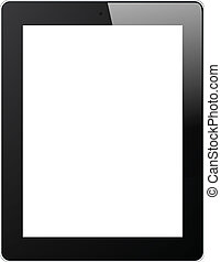 Set of Tablet PC Isolated on White Background. Vector.
