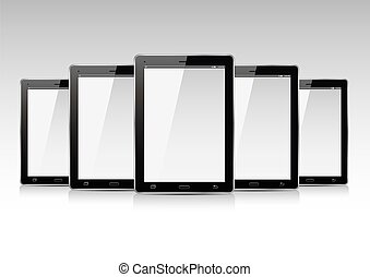 Set of Tablets. Vector Illustration.