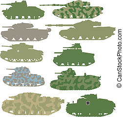 set of tanks