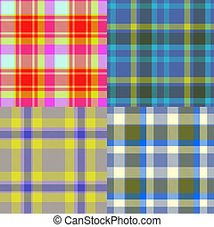 Set of tartan seamless generated textures