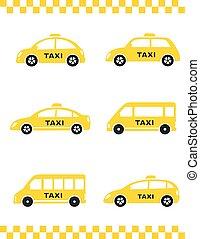 set of taxi car