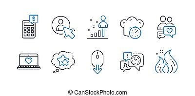 Set of Technology icons, such as Ranking stars, Time ...