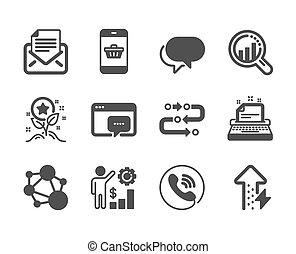 Set of Technology icons, such as Smartphone buying, Loyalty points, Integrity. Vector
