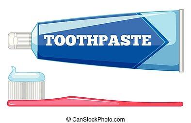 Set of teeth care