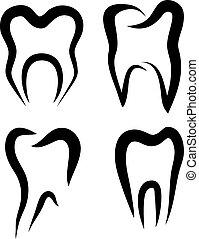 set of teeth symbols
