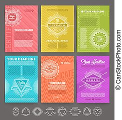 Set of template flyer page design - Vector illustration -...
