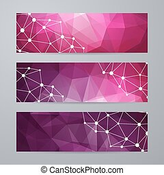 Set of templates for banners