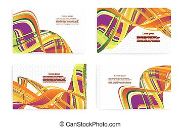 Set of templates for business cards. Elements for design.