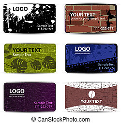 set of templates for business cards