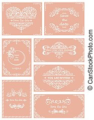Set of templates for wedding