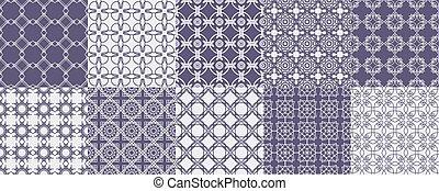 Set of ten ornament pattern