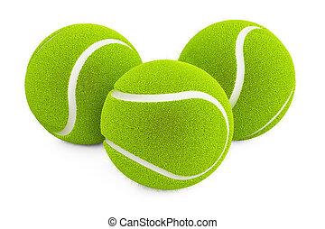 set of tennis balls, 3D rendering