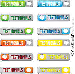 set of testimonial buttons