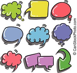 Set of text balloon colorful various