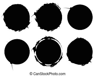 Set of textured, rough and grungy elements isolated on white. Elements with scratchy, sketchy, damaged, ripped, slashed texture.