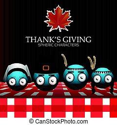 Set of thanksgiving emotes