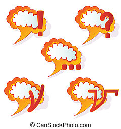 abstract speech bubbles