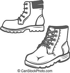 set of the boots icons isolated on white background. Images for