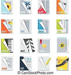 Set of the files and folders icons - Set of icons...