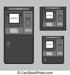 ATM - Set of the flat vector ATM machines