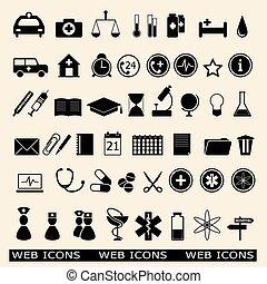 set of the medicine web icons
