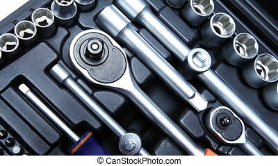 set of the metalwork tool for repair work . Close up