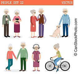 Set of the old people