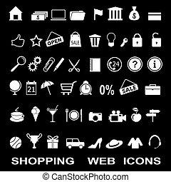set of the shopping web icons