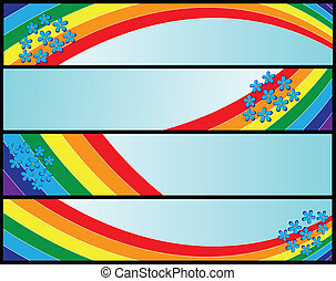 banners with rainbow
