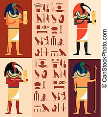 Set of Thoth - Vector image of the set of egiptian gods...