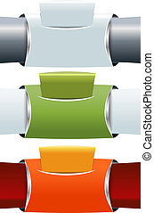 Set of three abstract banners background